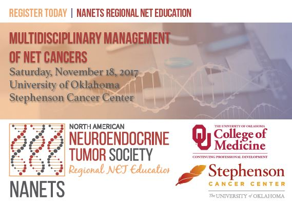 North American Neuroendocrine Tumor Society (NANETS) Regional Net Education: Multidisciplinary Management of NET Cancers Banner