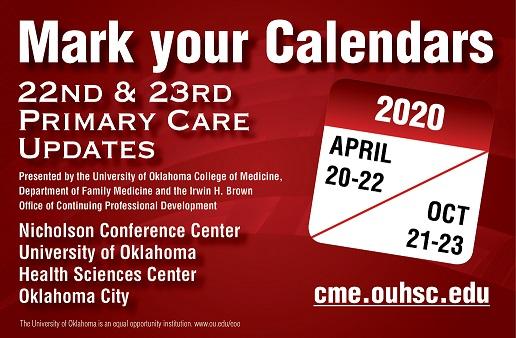 Ou Academic Calendar 2020 University of Oklahoma College of Medicine Continuing Medical