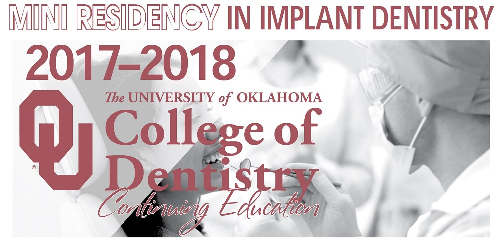 OU College of Dentistry Mini Residency in Implant Dentistry Banner