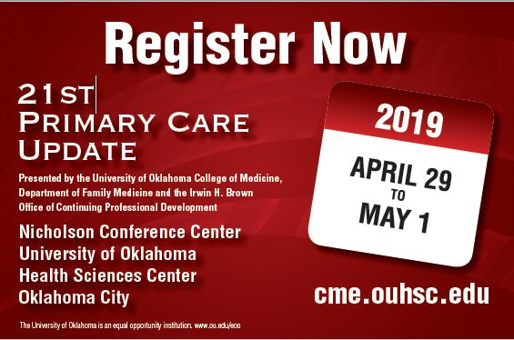 21st Annual Primary Care Update Conference Banner